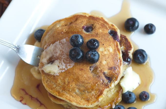 Flax Blueberry Pancake