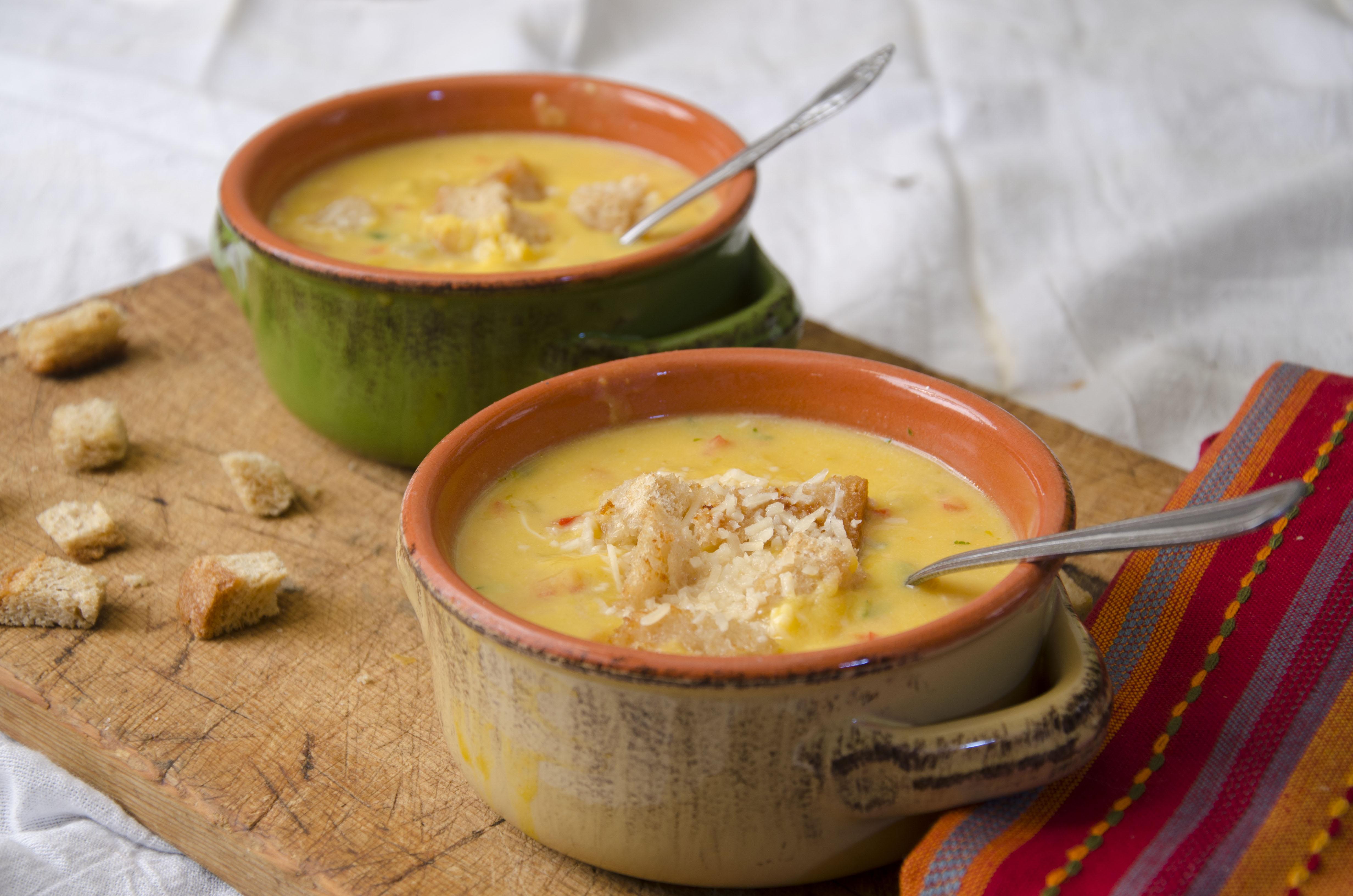 Buternut squash soup-soup 2 bowls