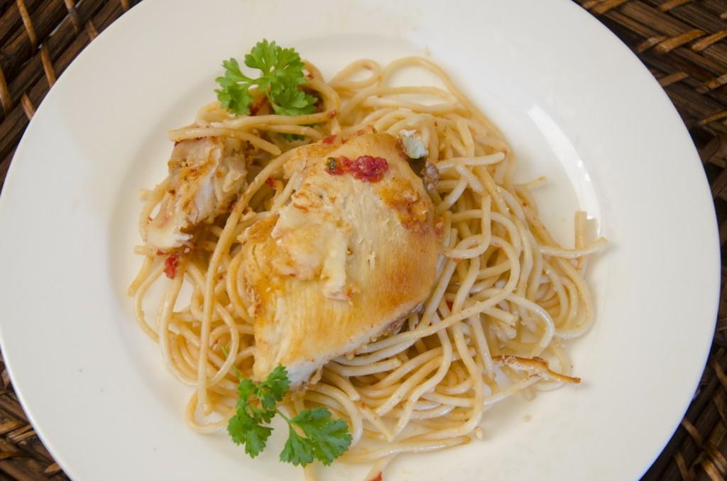 Chicken Parmesan Spagetti