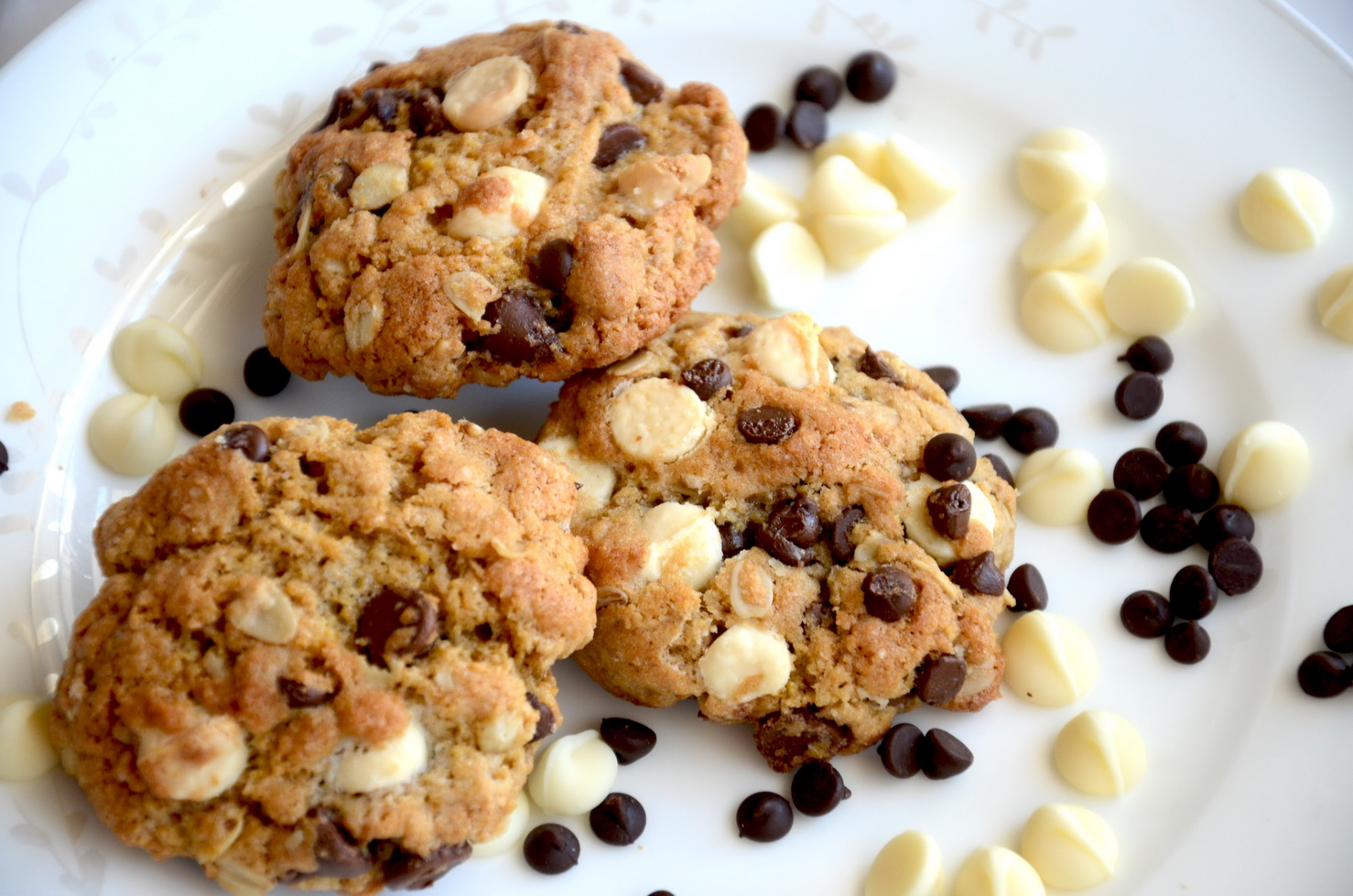 Healthy Oatmeal Chocolate Chip Cookies | Slice of Taste