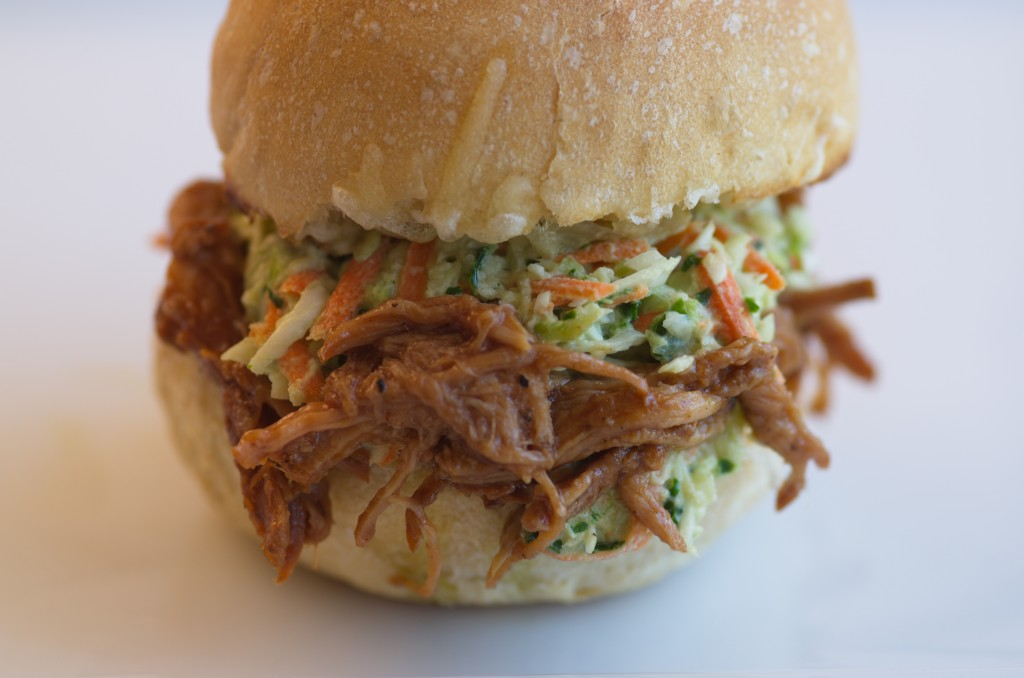Succulent Pulled Pork with Kale Slaw
