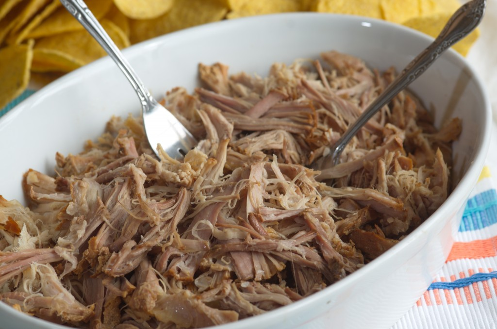 Delicious tender pulled pork ready for the sauce.
