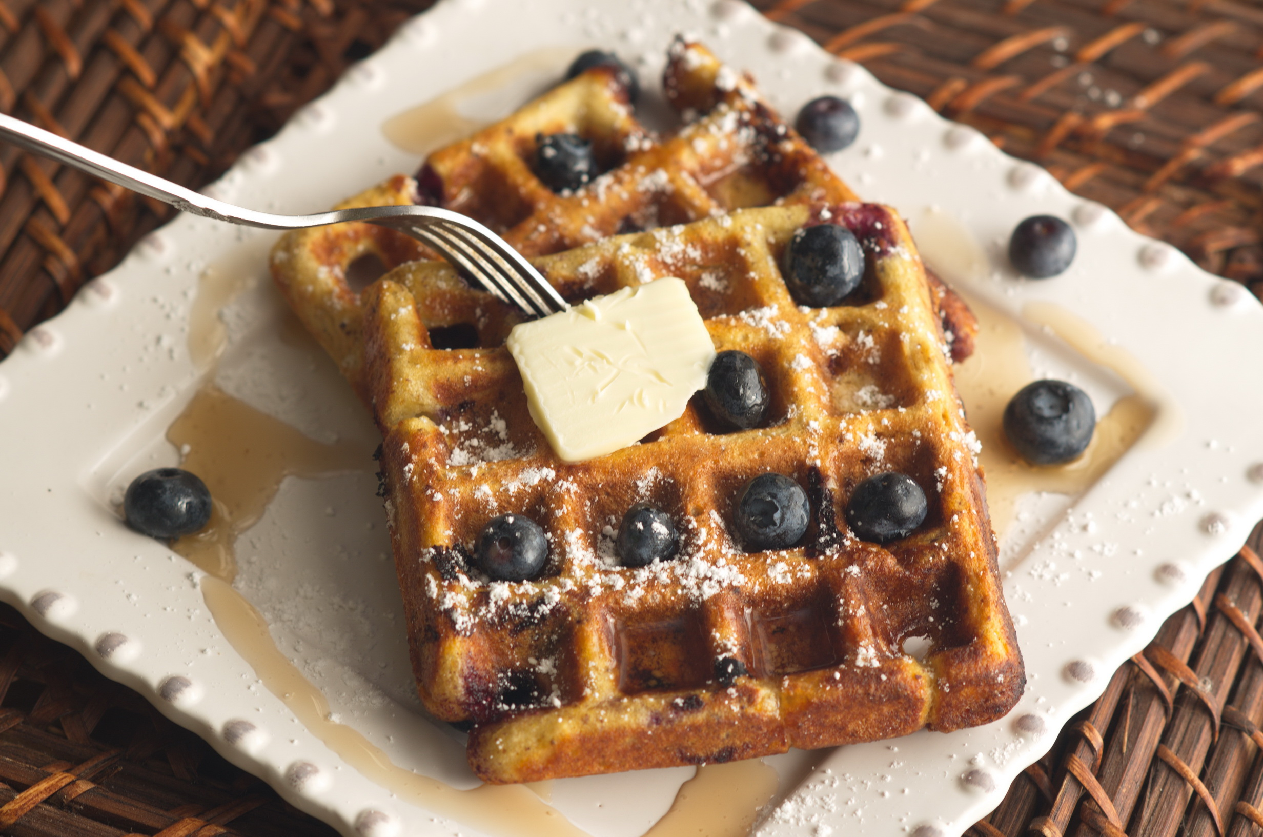 Fresh Blueberries make the best waffles.