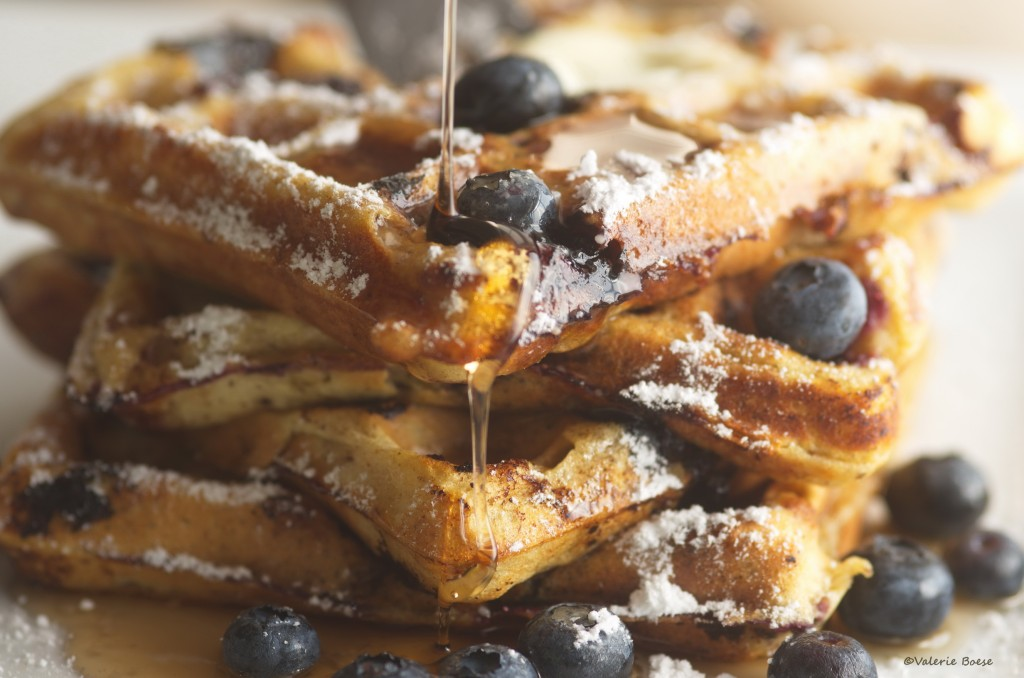 Healthy Blueberry Waffels