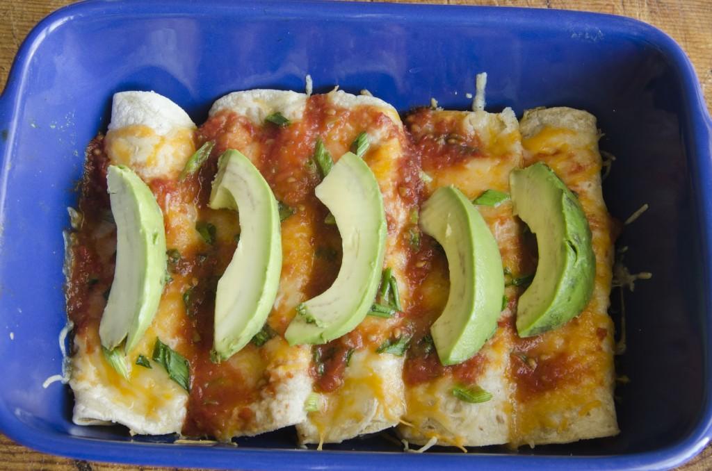 Creamy Chicken Crab Enchiladas