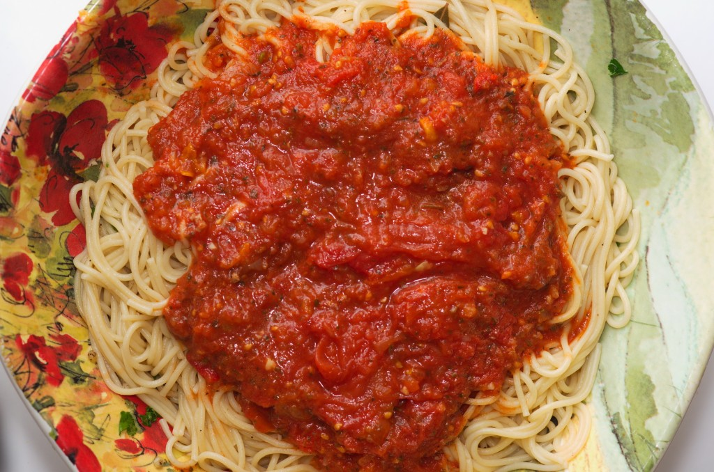 Delicious home made spaghetti sauce.