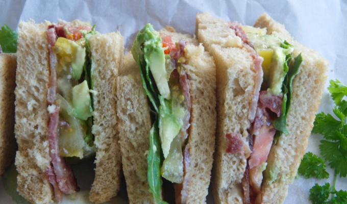 Avocado Bacon Lettuce Tomato Sandwich