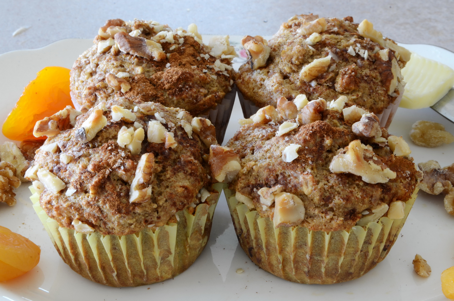 Delicious easy to make muffins with the tangy flavor of apricot.