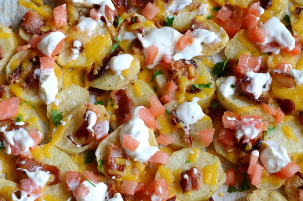 Easy Loaded Potato Rounds
