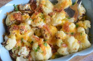 Roasted Bacon Cheddar Cauliflower